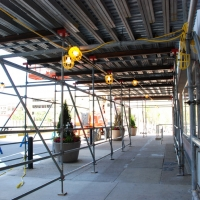 20th & JFK, system scaffold, overhead protection, Superior Scaffold, 215 743-2200