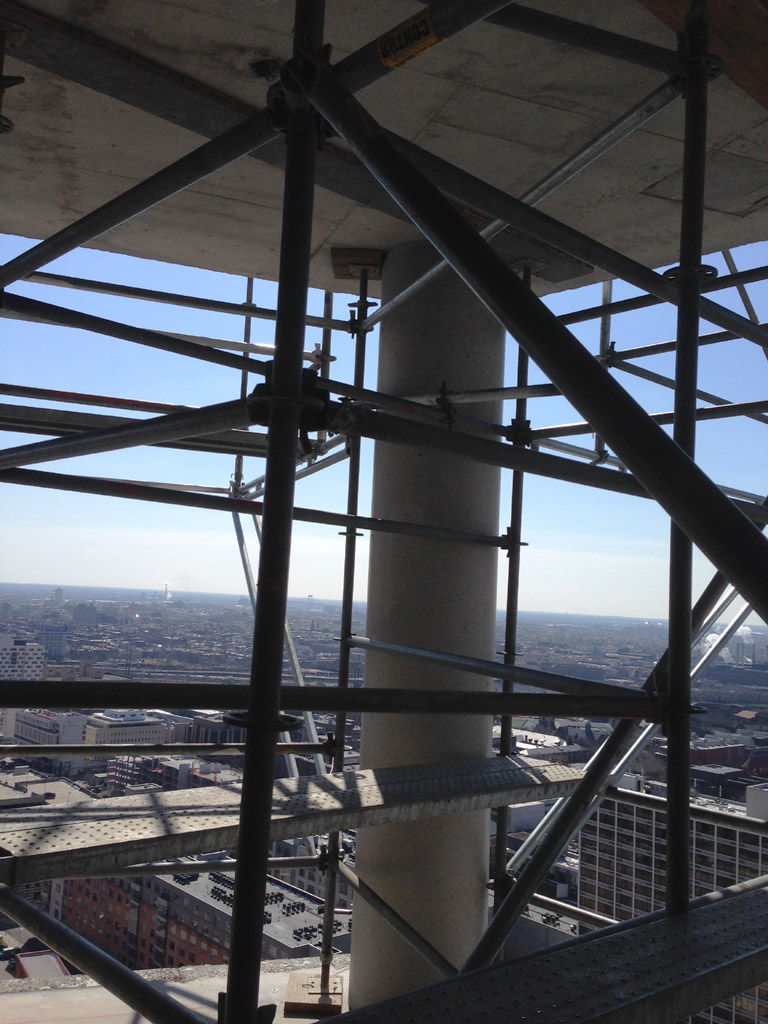 Cantilever Scaffold On 28 Floor Philadelphia Pa