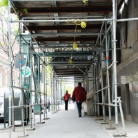 belgravia hotel, superior scaffold, pa, philly, philadelphia, scaffolding, rent, rental, rents, construction, facade, 322