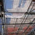 Independence Hall, piece of scrim, scaffold, scaffolding, Superior, 215 743-2200