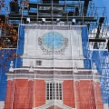 Independence Hall, front top, scaffold, scaffolding, Superior, 215 743-2200