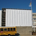 Kennedy Memorial Hospital, NJ, scaffold, containment, enclosure, Superior Scaffold, 215 743-2200