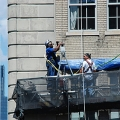 Pierre Hotel, NYC, NY, workers, suspended scaffold, swing, swing staging, rental, 215 743-2200