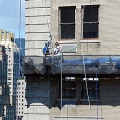 Pierre Hotel, NYC, NY, workers, suspended scaffold, swing, swing staging, rents, 215 743-2200