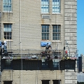 Pierre Hotel, NYC, NY, workers, suspended scaffold, swing, swing staging, rentals, 215 743-2200
