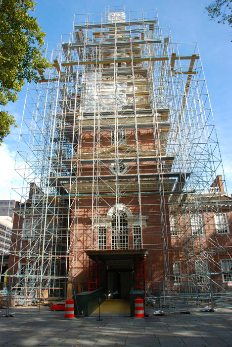 Independence Hall, superior scaffold, scaffold rental, scaffolding rental, rentals