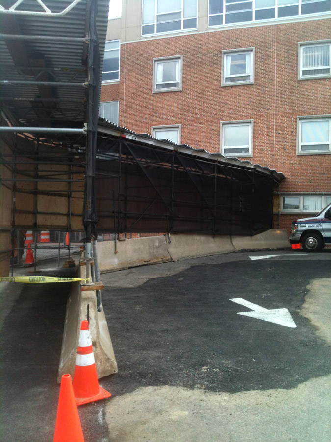 Scaffold rental, scaffolding rental, Riddle Memorial Hospital Canopy 2