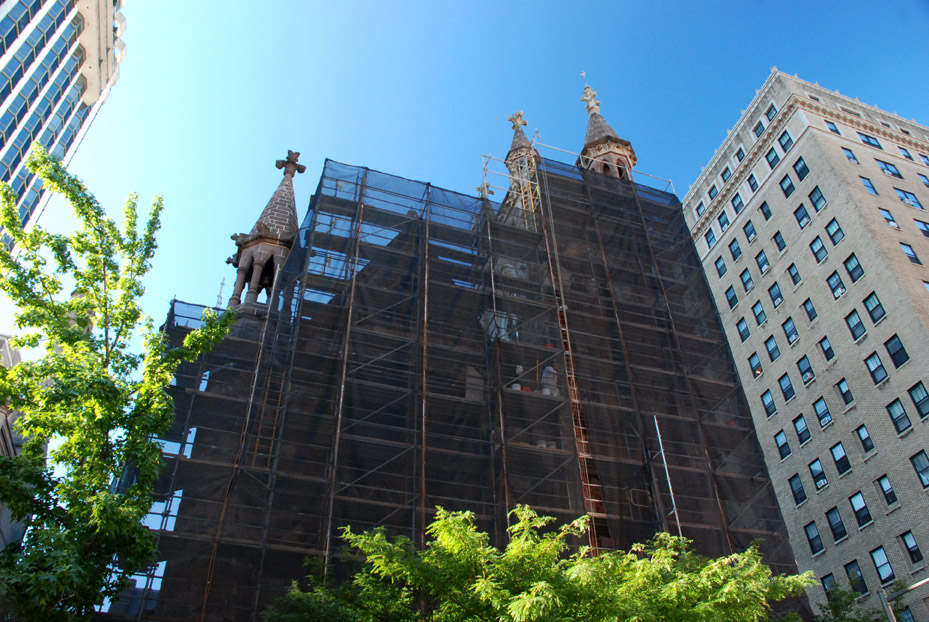First Presbyterian Church, PA, superior scaffold, scaffold rental, scaffolding, Philadelphia