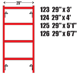 "Ladder Frames 26"" Wide"