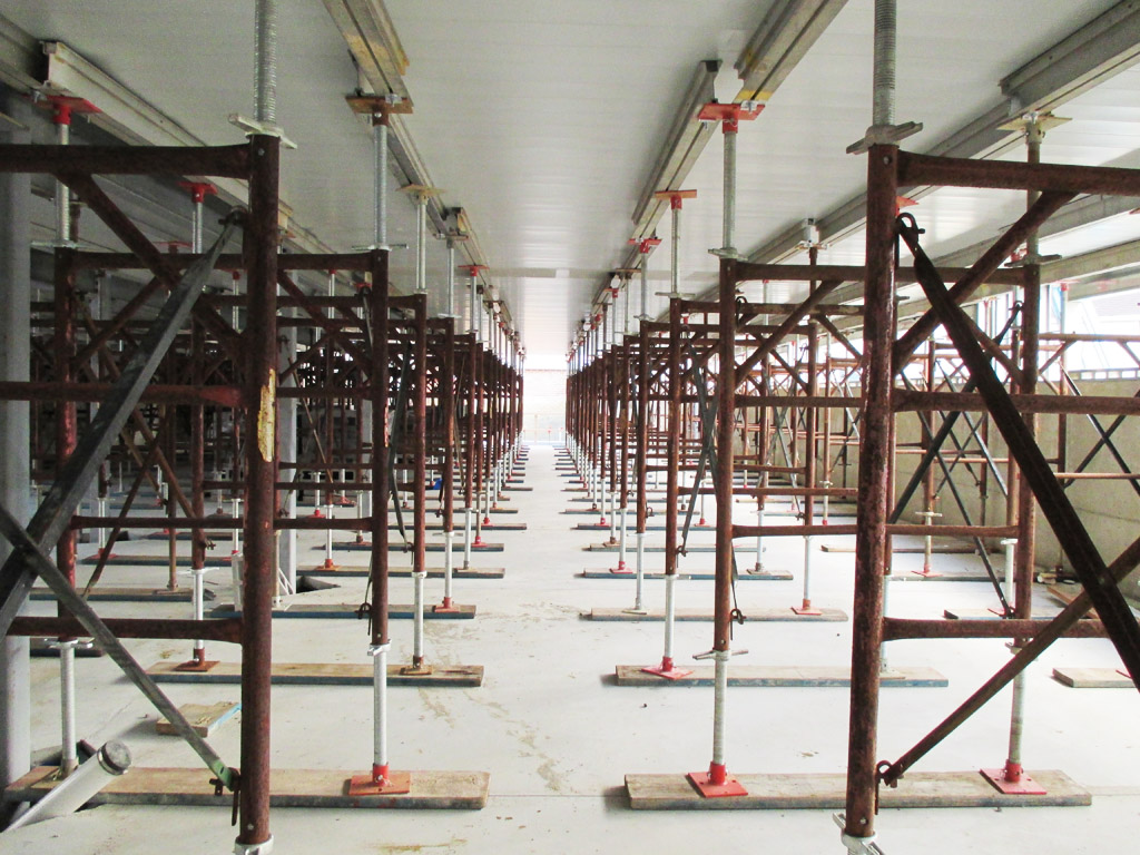 Maze Of Hi Load Shoring Frames For Retirement Community