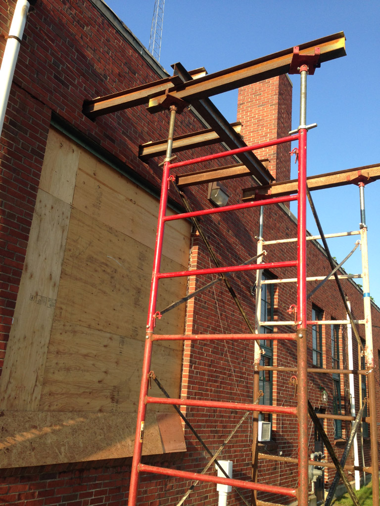 Needle Beam Shoring For Wall : Carry that heavy load shoring at new jersey dot