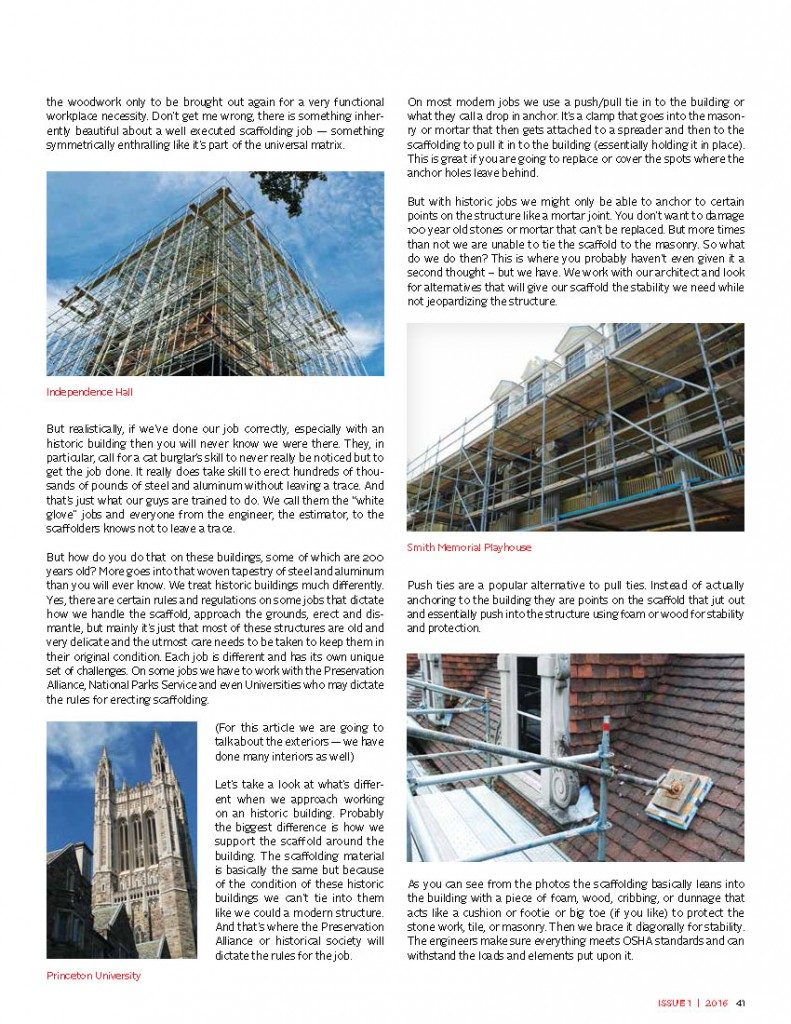 writing a feature article scaffold rental