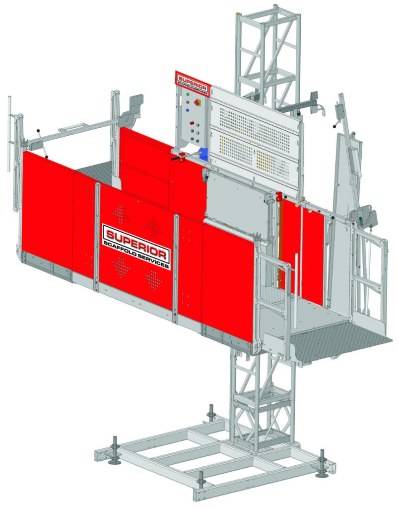 transport platform, man, material, hoist, lift, elevator, buckhoist, superior scaffold, scaffolding, scaffold, pa, nj, md, de, new jersey, access, construction, rent, rental, rents, philly, suspended, swing stage