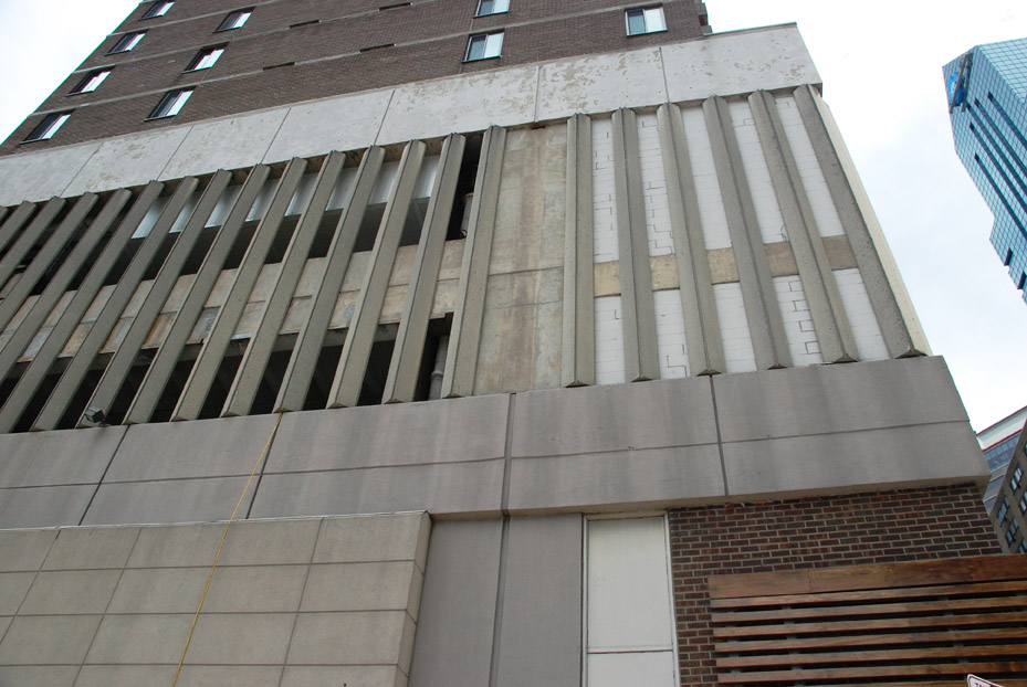 20th & JFK, concrete beam, overhead protection, Superior Scaffold, 215 743-2200