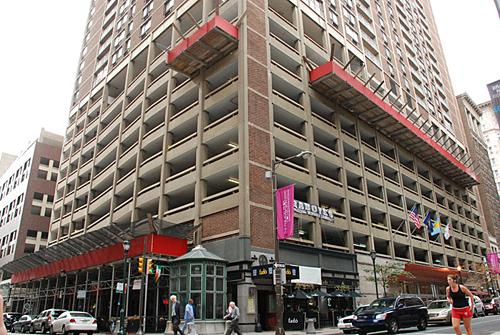 15th & Locust, Philadelphia, PA, overhead protection, Superior Scaffold, 215 743-2200