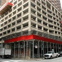 15th & Locust, Philadelphia, PA, Aluminum overhead protection, Superior Scaffold, 215 743-2200