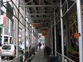 15th & Locust, Philadelphia, PA, Aluminum posts, overhead protection, Superior Scaffold, 215 743-2200