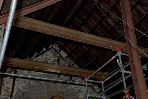 Baptist temple Church, Philadelphia, PA, steel beam, Superior Scaffold, 215 743-2200