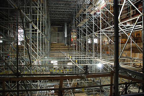 Baptist temple Church, Philadelphia, PA, scaffolding, Superior Scaffold, 215 743-2200, rental