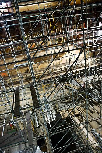 Baptist temple Church, Philadelphia, PA, scaffolding, Superior Scaffold, 215 743-2200, erection