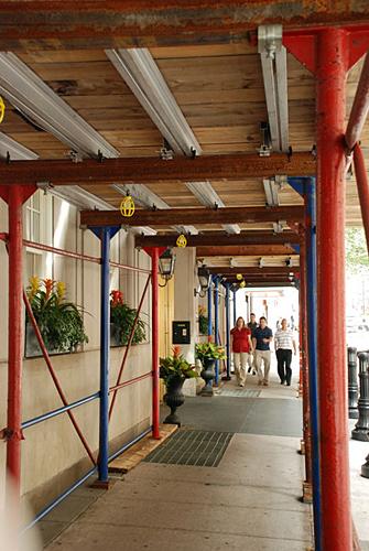 16th & Locust, bridge column, canopy, Superior Scaffold, 215 743-2200