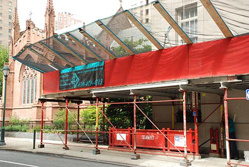 16th & Locust, debris netting, overhead sidewalk protection, Superior Scaffold, 215 743-2200