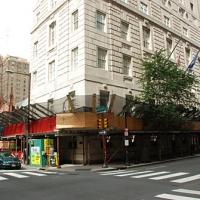 16th & Locust, overhead sidewalk protection, Superior Scaffold, 215 743-2200