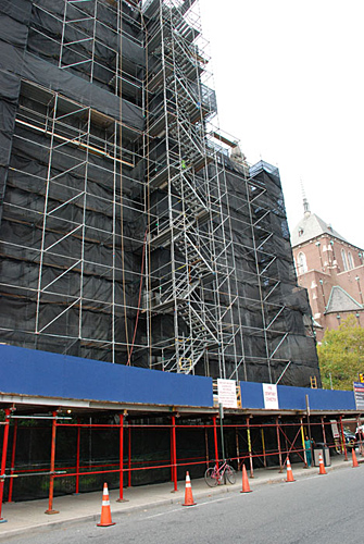 University of Pennyslvania, Hospital, scaffold, overhead protection, Superior Scaffold, 215 743-2200