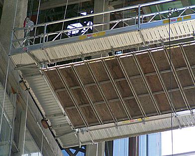 Comcast Center, Philadelphia, PA, Suspended scaffold, Superior Scaffold, 215 743-2200, rentals