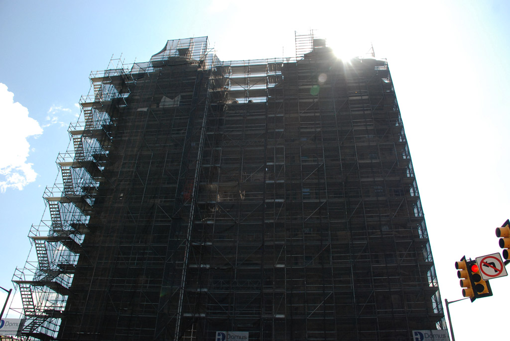scaffolding, scaffold, superior scaffold, 215 743-2200, philadelphia, pa, de, md, nj, new jersesy, shoring, renovation, masonry, construction, divine lorraine, 025
