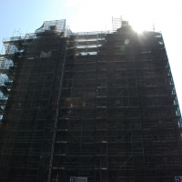 scaffolding, scaffold, superior scaffold, 215 743-2200, philadelphia, pa, de, md, nj, new jersesy, shoring, renovation, masonry, construction, divine lorraine, 025