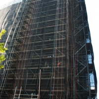 scaffolding, scaffold, superior scaffold, 215 743-2200, philadelphia, pa, de, md, nj, new jersesy, shoring, renovation, masonry, construction, divine lorraine, netting, 025
