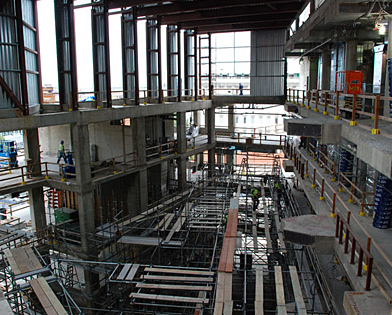 Drexel University, Papadakis Integrated Sciences Building, erecting, scaffolding, Superior Scaffold, 215 743-2200, Philadelphia, PA,