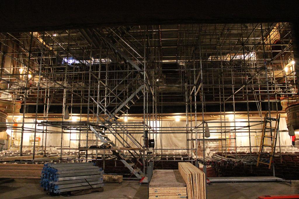 scaffolding, scaffold, rental, rents, rent, philadlphia, superior scaffold, 215 743-2200, nj, md, de, forrest theater, 5503
