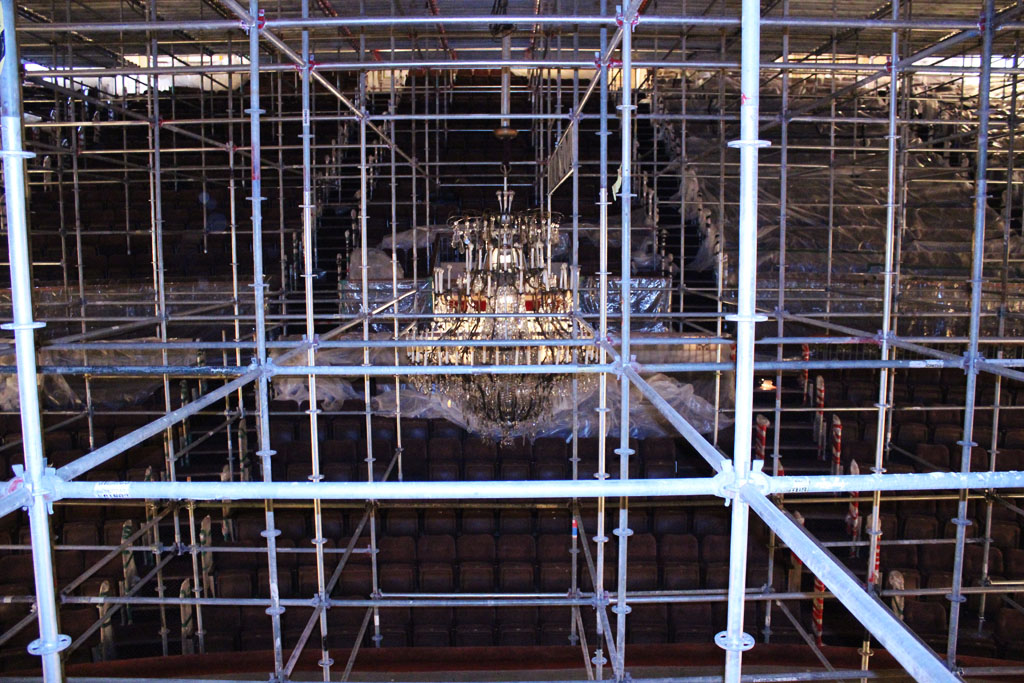 scaffolding, scaffold, rental, rents, rent, philadlphia, superior scaffold, 215 743-2200, nj, md, de, forrest theater, 5516