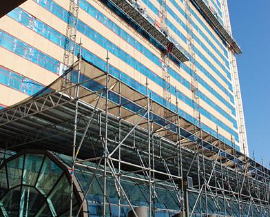Golden Nugget Casino, Atlantic City, NJ, overhead protection, atrium, Superior Scaffold, 215 743-2200