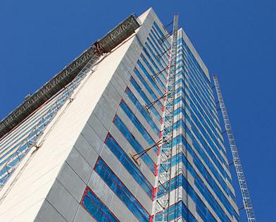Golden Nugget Casino, Atlantic City, NJ, mast climber, track, Superior Scaffold, 215 743-2200