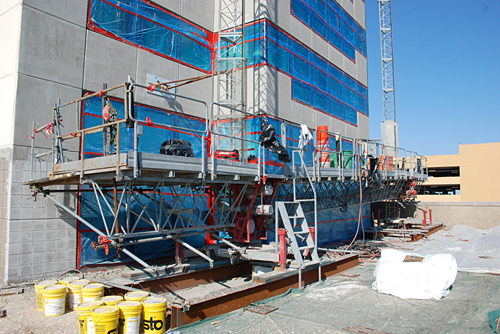 Golden Nugget Casino, Atlantic City, NJ, mast climber, Superior Scaffold, 215 743-2200
