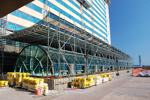 Golden Nugget Casino, Atlantic City, NJ, overhead protection, Superior Scaffold, 215 743-2200