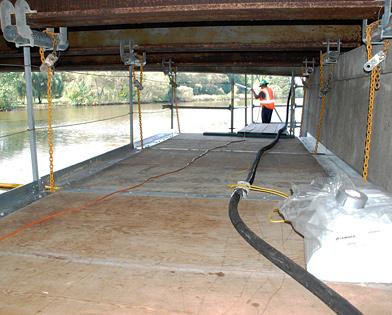 Hanging Bridge Platform, plywood, platform, Superior Scaffold, 215 743-2200