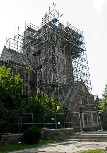 Henry Hall, Princeton University, NJ, Scaffolding, Superior Scaffold, 215 743-2200, rental