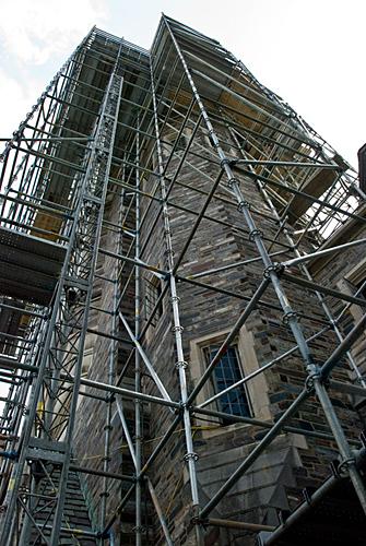 Henry Hall, Princeton University, NJ, Scaffolding, Hoist, Superior Scaffold, 215 743-2200, rentals