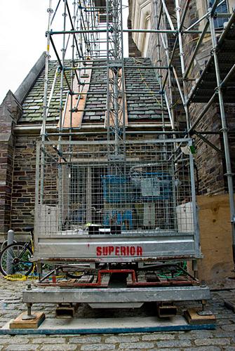 Henry Hall, Princeton University, NJ, Lift, Scaffolding, Superior Scaffold, 215 743-2200, rental