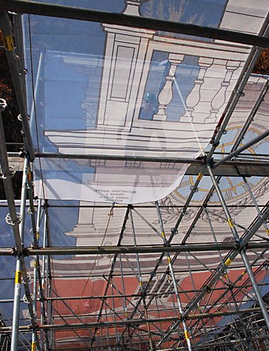 Independence Hall, Scrim, scaffold, scaffolding, Superior, 215 743-2200