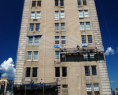 Pierre Hotel, NYC, NY, suspended scaffold, swing, swing staging, rent, 215 743-2200