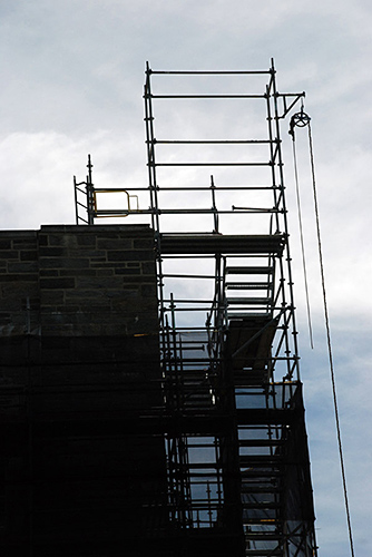 Firestone Library, Princeton University, NJ, superior scaffold, 215 743-2200, scaffolding, scaffold rental, stair tower, USA