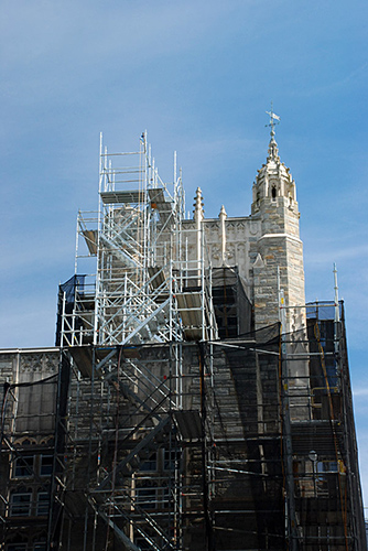 Firestone Library, Princeton University, NJ, superior scaffold, 215 743-2200, scaffolding, scaffold, rent, USA