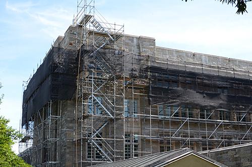 Firestone Library, Princeton University, NJ, superior scaffold, 215 743-2200, scaffolding, netting, scaffold rental, USA