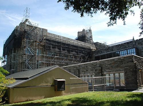 Firestone Library, Princeton University, NJ, superior scaffold, 215 743-2200, scaffolding, scaffold rents USA