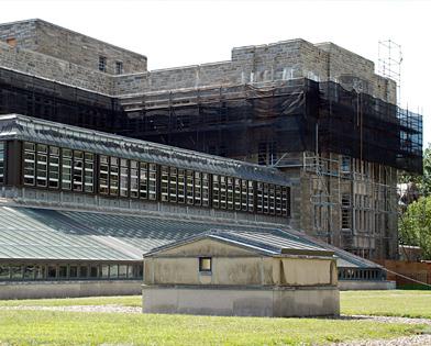 Firestone Library, Princeton University, NJ, superior scaffold, 215 743-2200, scaffolding, scaffold rents, USA